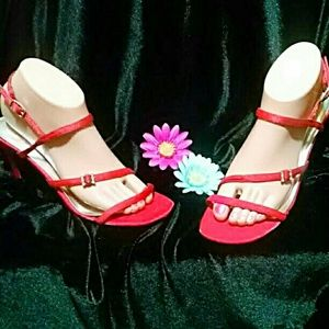Marvelous Michael Antonio Red Strappy Sandals!